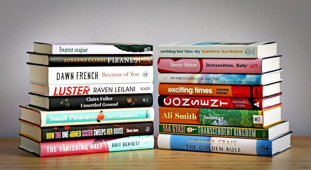 A picture of the 16 books that have been longliste