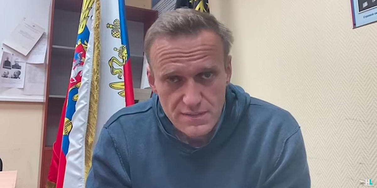 Alexei Navalny seen in January 2021, before his imprisonment.