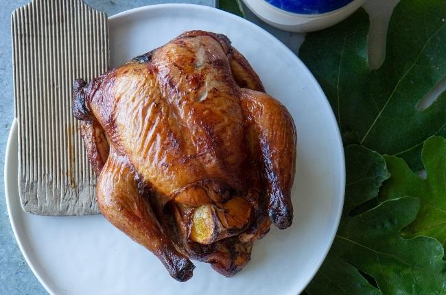 Rooibos-smoked honey-basted chicken. (Photo: MISHA JORDAAN)