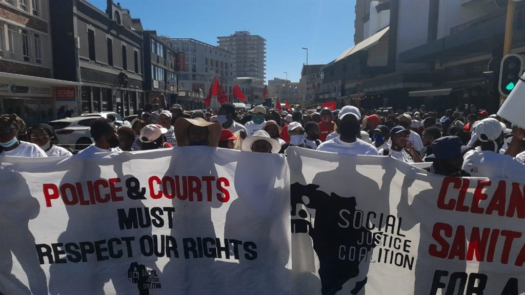 Khayelitsha residents march through to Sea Point to complain over lack of service delivery.