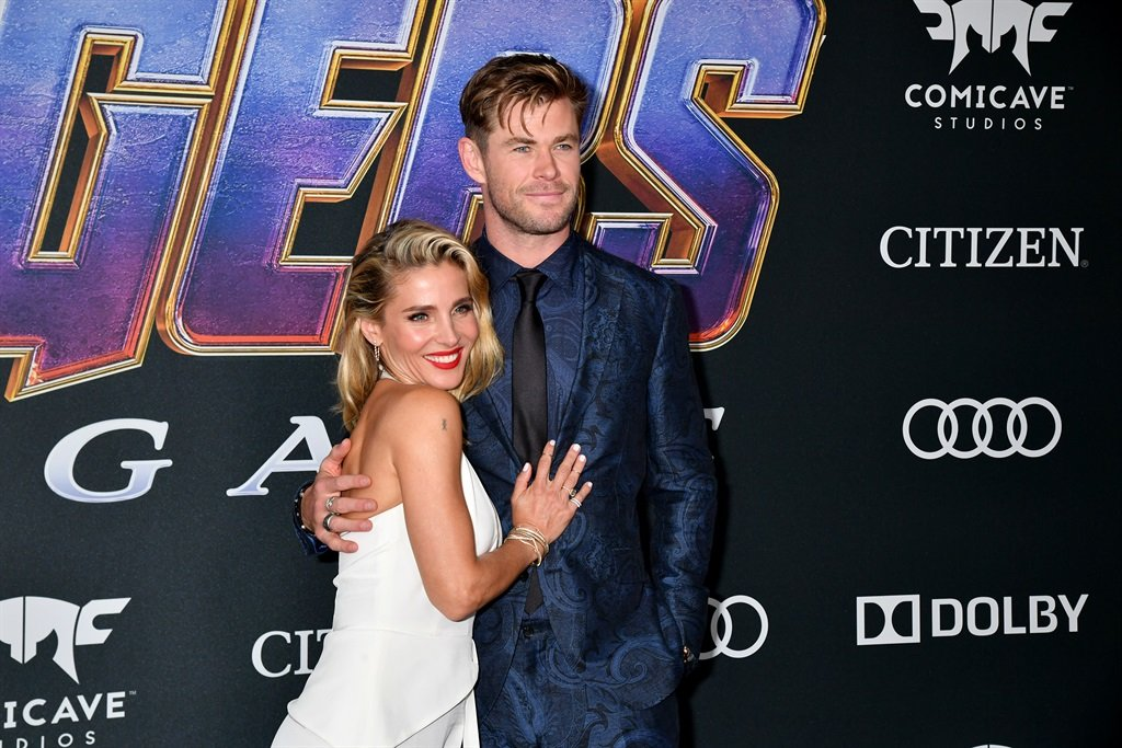 Elsa Pataky and Chris Hemsworth attend the World Premiere of Walt Disney Studios Motion Pictures Avengers: Endgame at Los Angeles Convention Center on April 22, 2019 in Los Angeles, California. Photo by Jeff Kravitz/ FilmMagic/ GettyImages