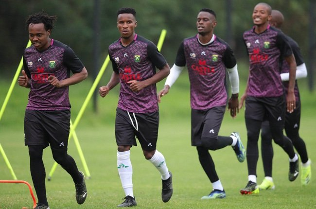 Percy Tau training with Bafana Bafana squad ahead of AFCON qualifiers against Ghana and Sudan.