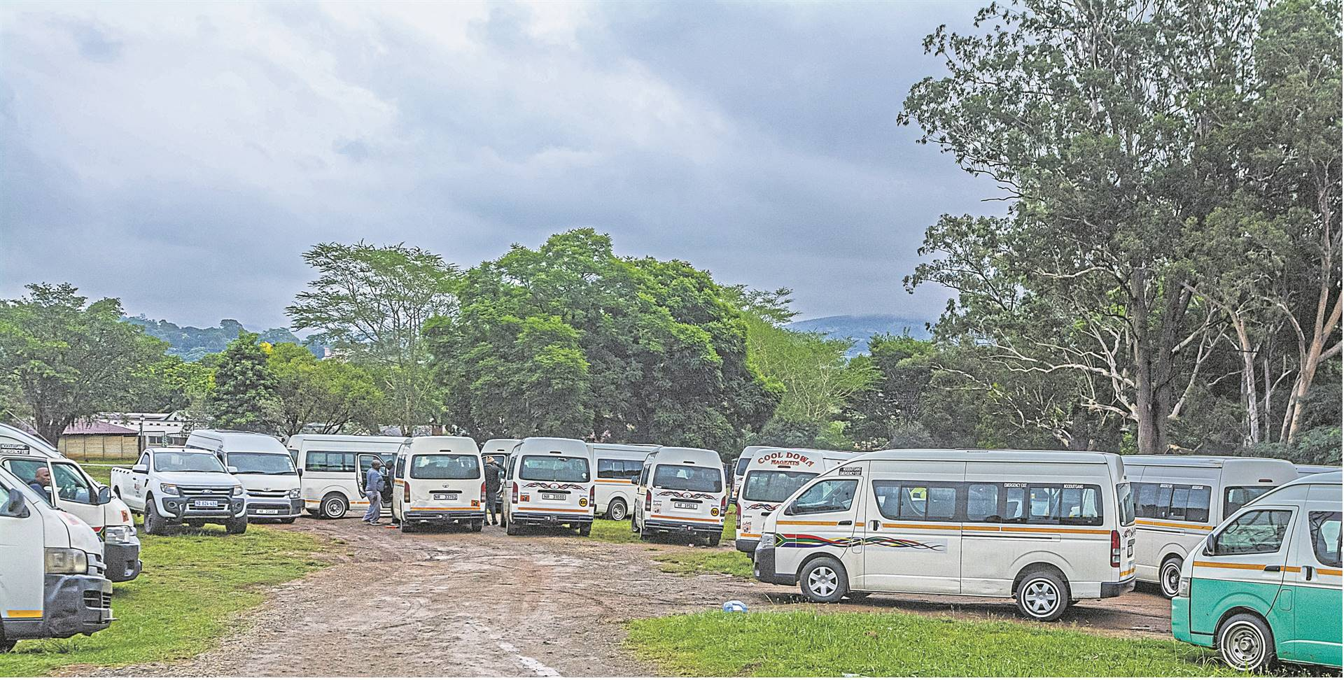 Howick taxi association drivers waited at the Alexandra Park on Thursday while officials met at the Road Traffic Inspectorate offices to discuss a way forward over the recent taxi route dispute.