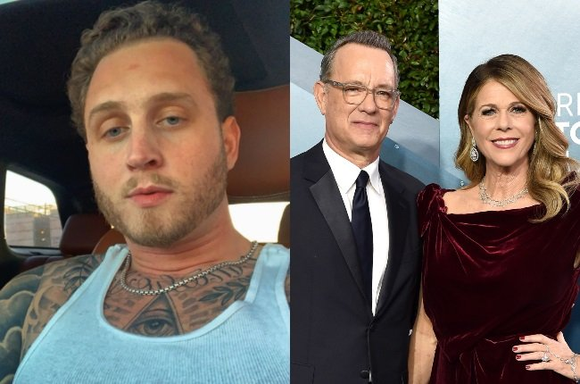The son of Tom and Rita Wilson, Chet Hanks, is facing backlash for comments he made on Instagram earlier this month. (CREDIT: Instagram @chethanx / Gallo Images / Getty Images)