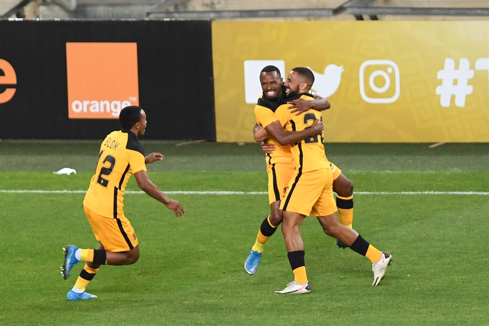 Bernard Parker celebrates scoring the goal that handed Kaizer Chiefs a 1-0 win over Wydad Athletic in their CAF Champions League game at FNB Stadium on Saturday. Picture: Lefty Shivambu / Gallo Images