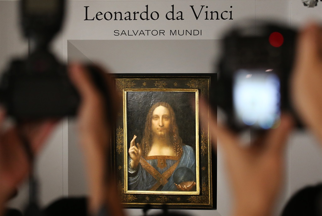 Salvator Mundi, by Leonardo da Vinci, displayed at Christie's in Central.  13OCT17 SCMP / Felix Wong (Photo by Felix Wong/South China Morning Post via Getty Images)