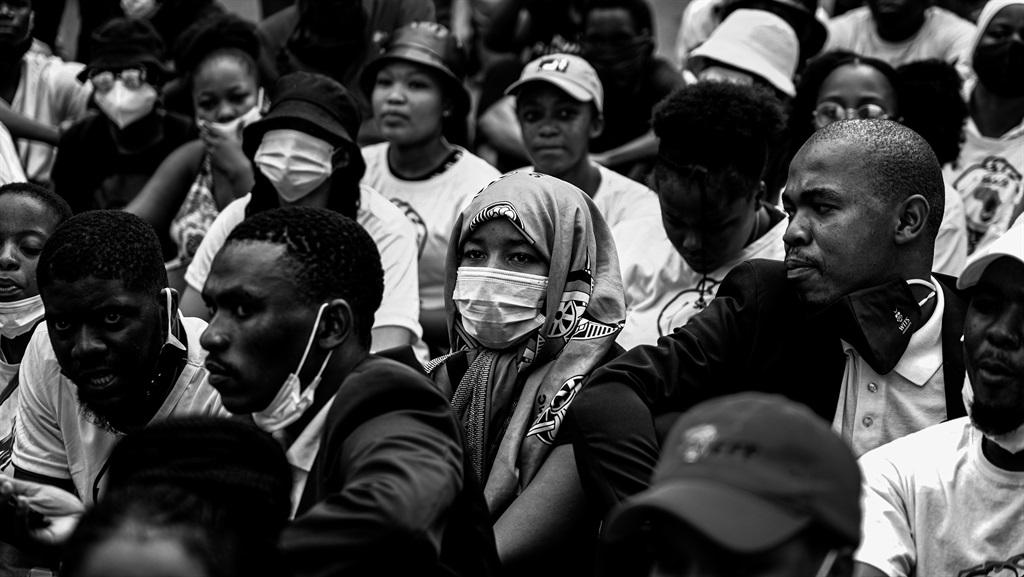 Students in Braamfontein stage a sit-in on Stiemen