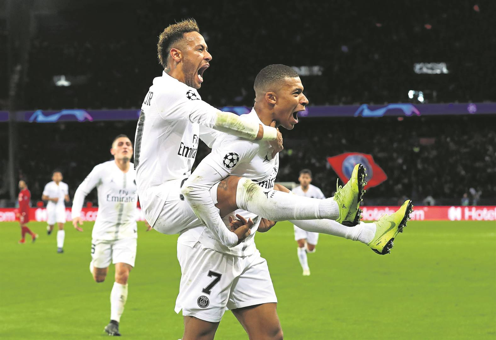 Neymar and Kylian Mbappe are carrying the hopes of PSG as they face Bayern Munich in Champions League last eight.Photo by Getty Images
