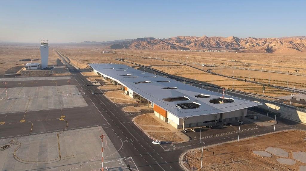 Exterior view. Ramon Airport, Eilat, Israel. Archi