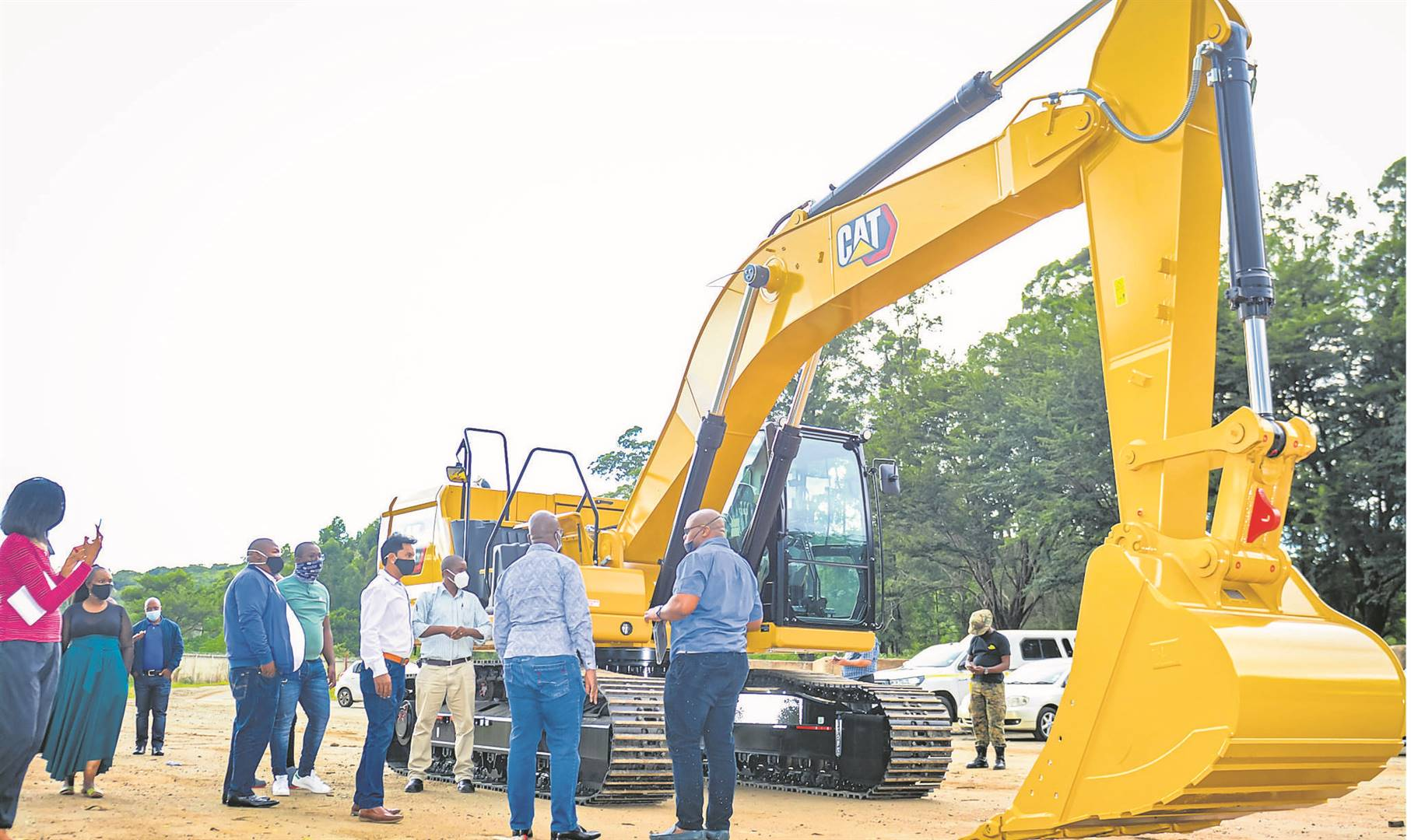 Msunduzi Municipality on Wednesday received a brand new 30-ton excavator for the New England Road landfill Site.