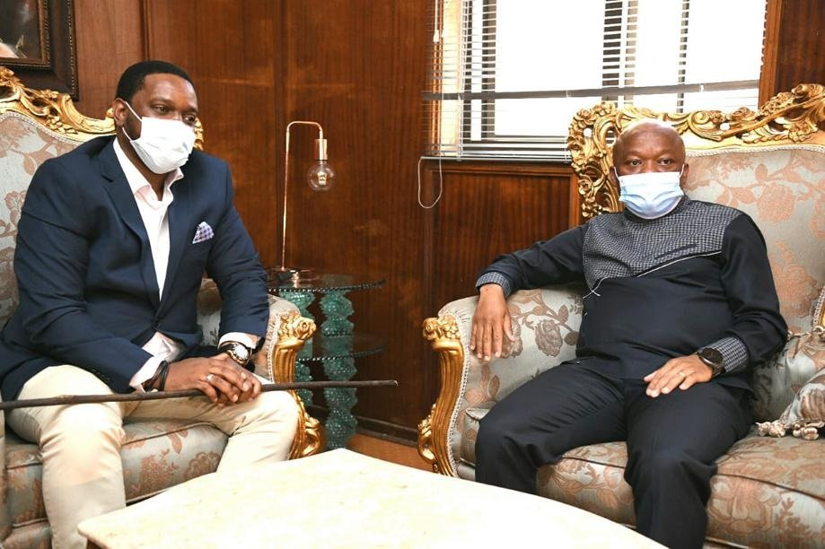 KZN Premier Sihle Zikalala during his first meeting with newly-appointed Zulu King, Misuzulu kaZwelithini, in Nongoma on Thursday.