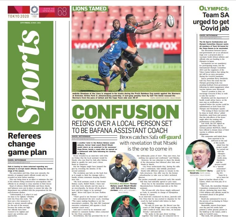 What's in City Press Sport