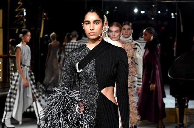 Models walk the runway for Prabal Gurung during New York Fashion Week: The Shows on February 11, 2020 in New York City. (Photo by Slaven Vlasic/Getty Images for NYFW: The Shows)