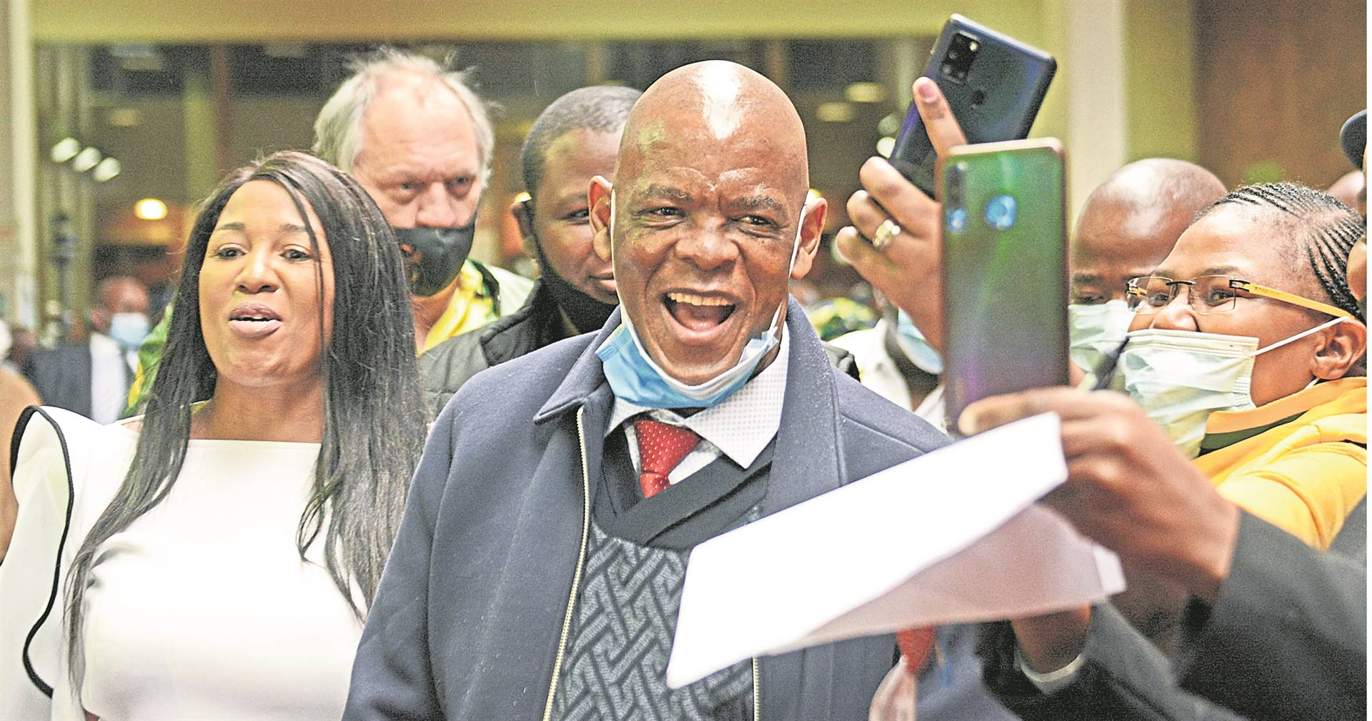 Suspended ANC secretary general Ace Magashule was at the Pietermaritzburg High Court on Monday to lend support to former president Jacob Zuma.