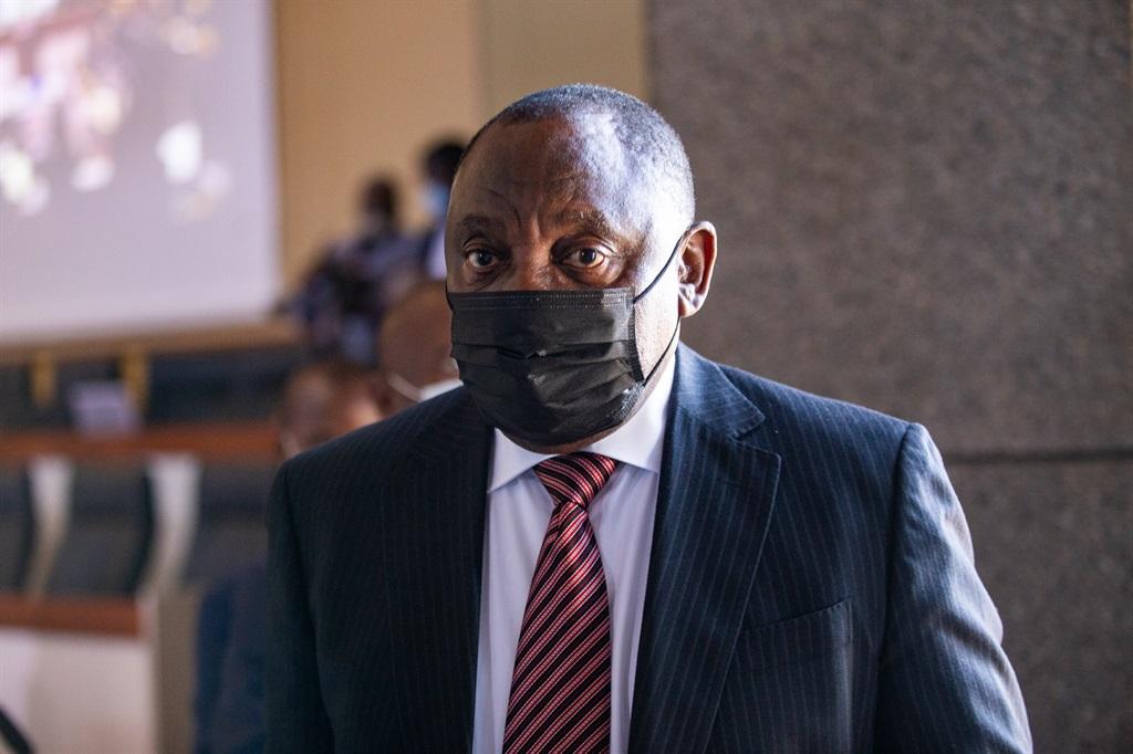 President Cyril Ramaphosa at the state capture commission. (Photo: OJ Koloti/Gallo Images)