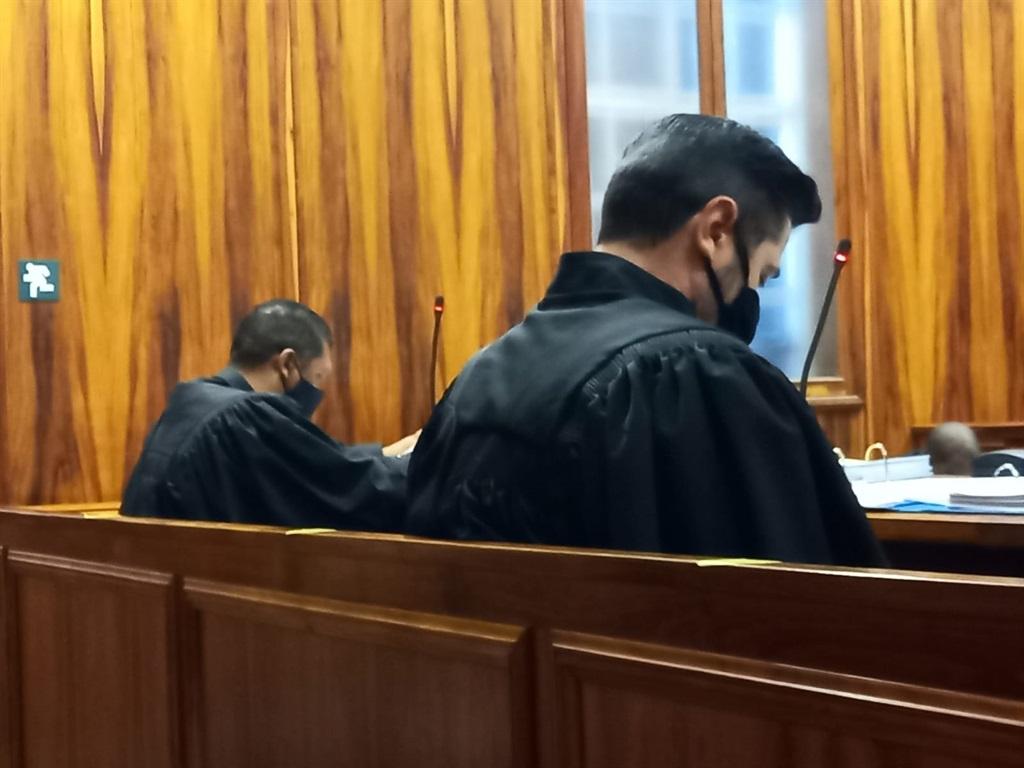 Prosecutor Greg Wolmarans (left) and lawyer Marius Botha.