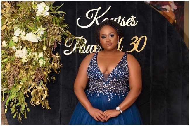Kayise Ngqula turned 30 in style.