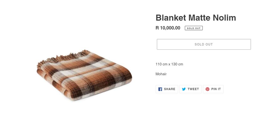 Blanket Matte Nolim sold out