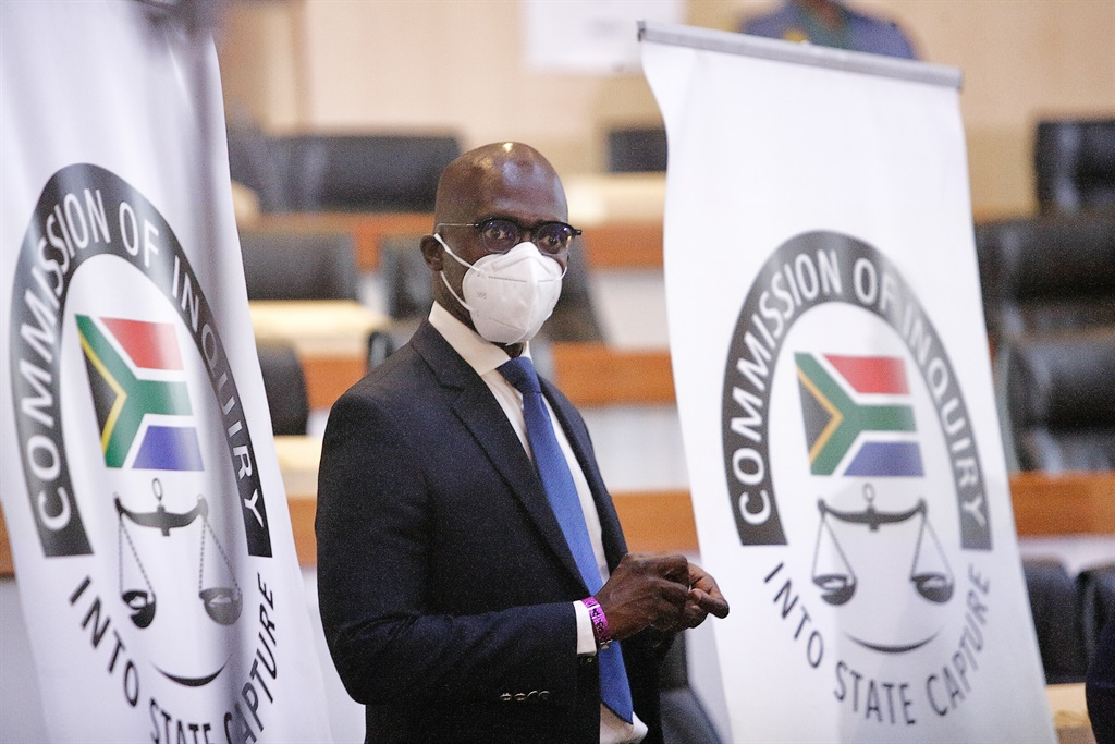Former Minister Malusi Gigaba  appears at the the Zondo Commission. Photo by Gallo Images/Fani Mahuntsi.