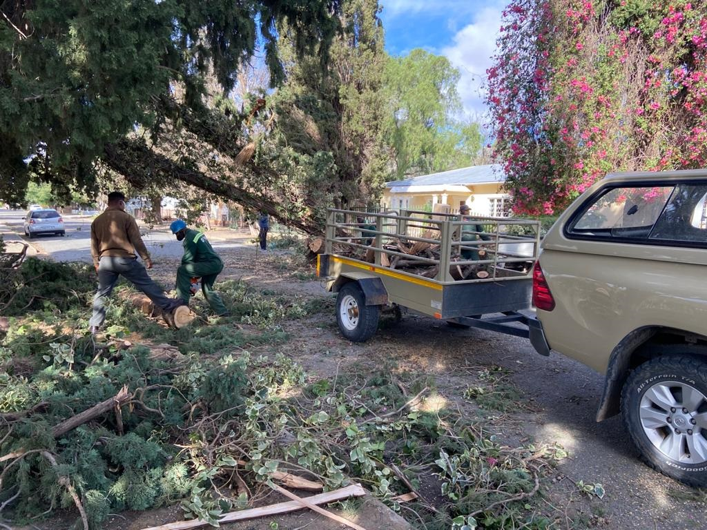 Strong winds left a trail of destruction in Graaf-