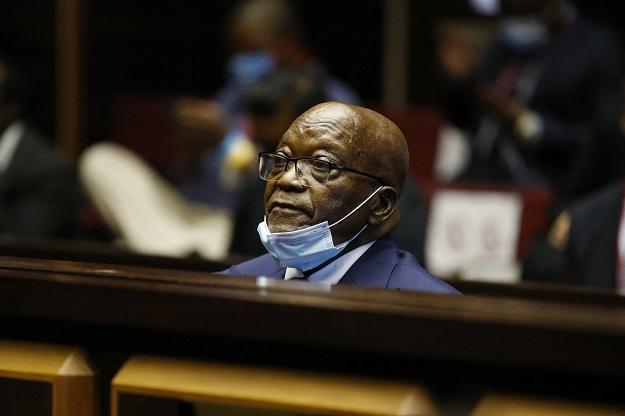 Former president Jacob Zuma in the dock on Wednesday.