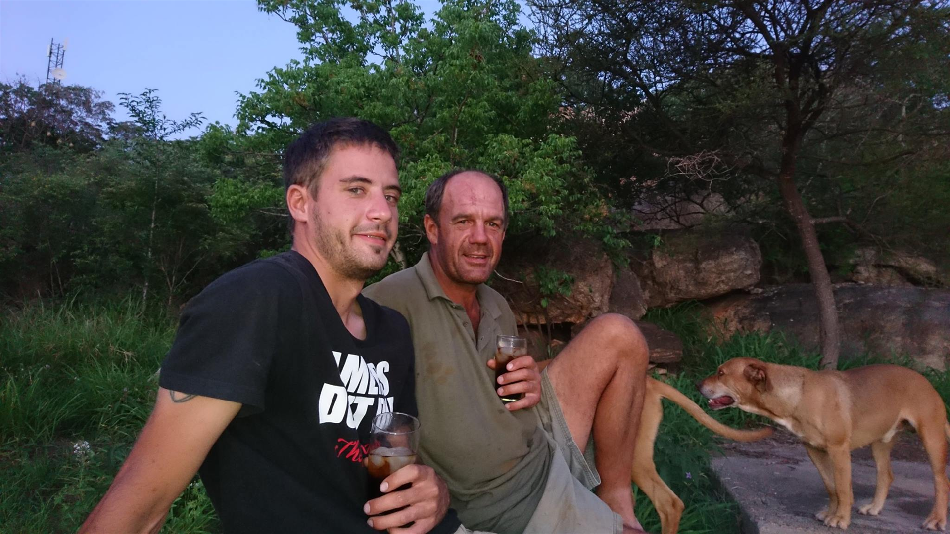 Danie Duvenhage and his father, André, in 2017.