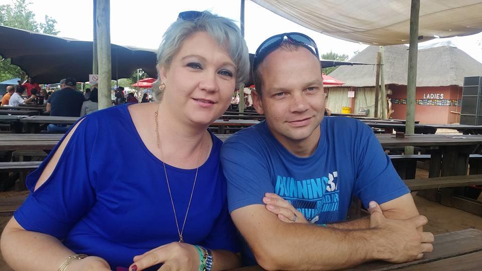 Denise en haar man, Gideon Christie. Foto: Faceboo