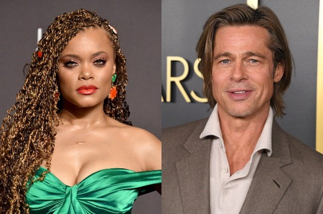 """Brad Pitt was caught """"flirting"""" with Andra Day at this year's Oscars, according to reports. (PHOTO: Gallo Images / Getty Images)"""