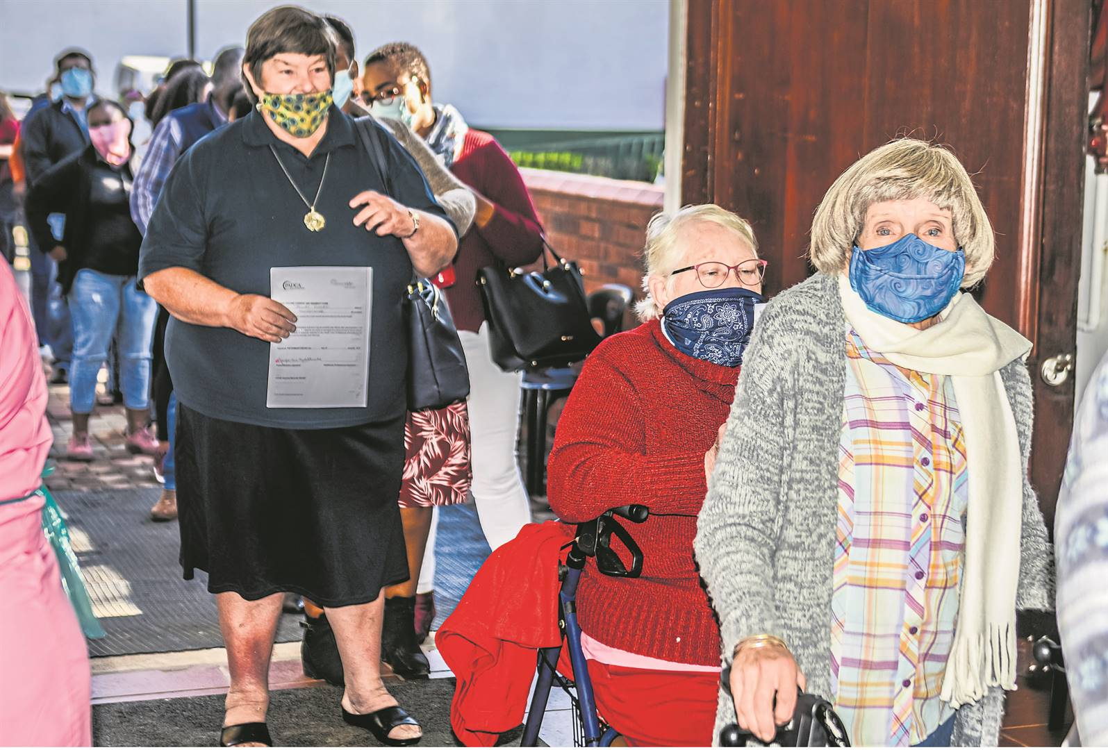 Best friends Jean Fernlay (85) and Cherly Smith (72) from Sunnyside were among the hundreds that turned out to be vaccinated at the Royal Showgrounds in Pietermaritzburg at the start of the vaccine roll-out in KwaZulu-Natal.