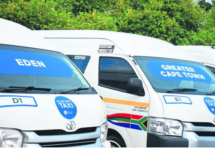 Each of the more than 700 minibus taxis in the Blue Dot Taxi Pilot Project recorded, on average, 26 daily speeding and harsh driving incidents.