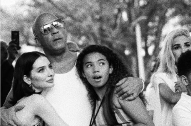 Paul Walker's daughter, Meadow, recently shared a photo of herself hugging her dad's Fast & Furious costar Vin Diesel and his 13-year-old daughter Hania. (PHOTO: Instagram / @meadowwalker)