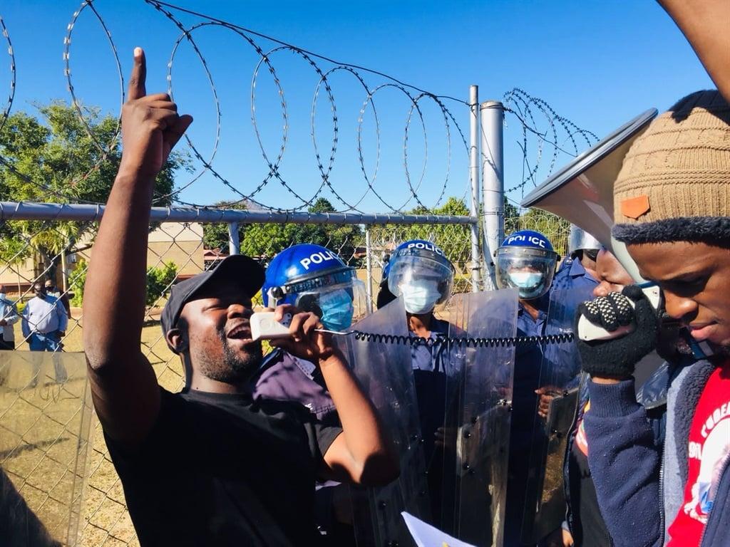 Colani Khulekani Maseko leads the Swaziland National Students' Union in protest.