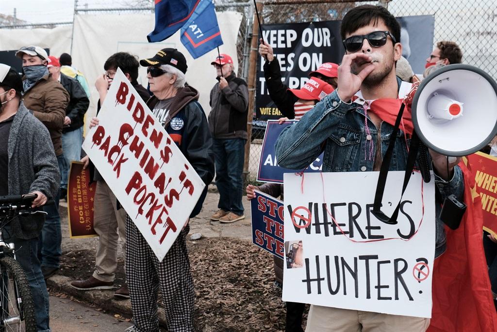 Hunter was tydens die verkiesing verlede jaar in D