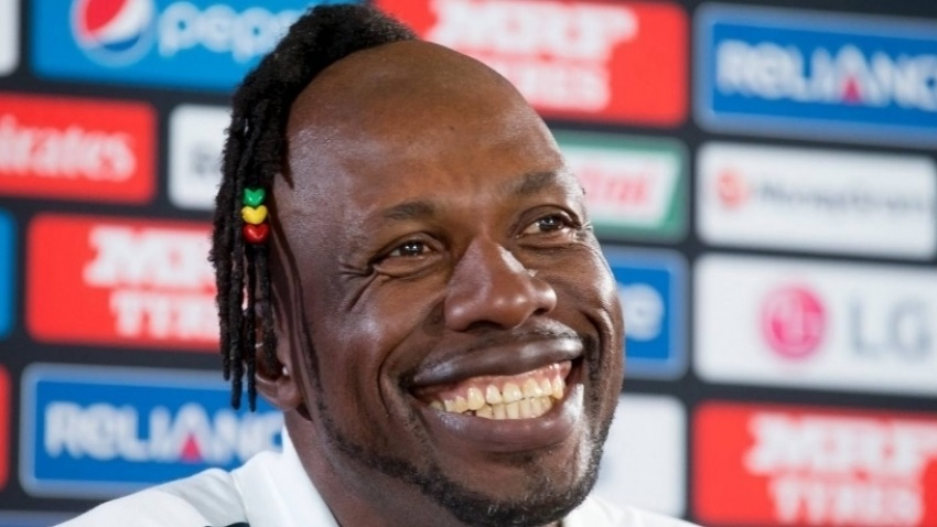 Cricketer turned commentator, Sir Curtly Ambrose.