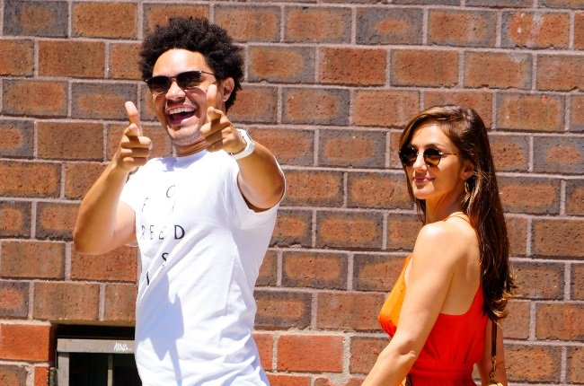 Trevor Noah and Minka Kelly weren't being shy about their rekindled romance relationship while out and about in New York over the weekend. (PHOTO: The Image Direct / Magazine Features)