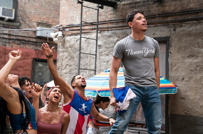 Anthony Ramos in a scene from In the Heights.