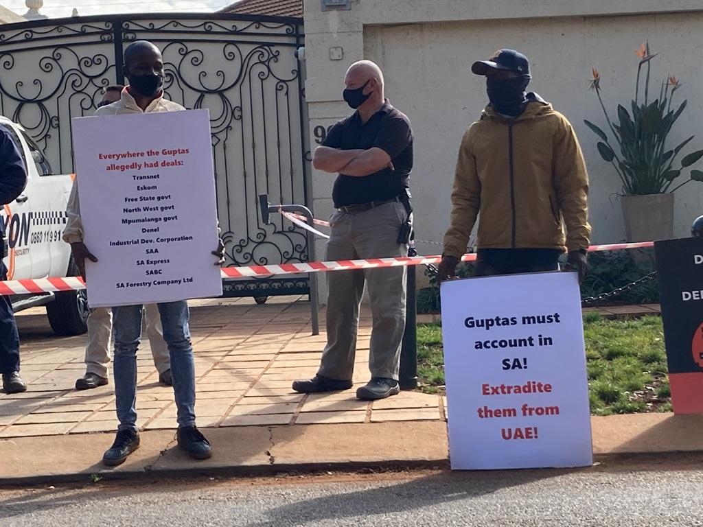 Gupta protest