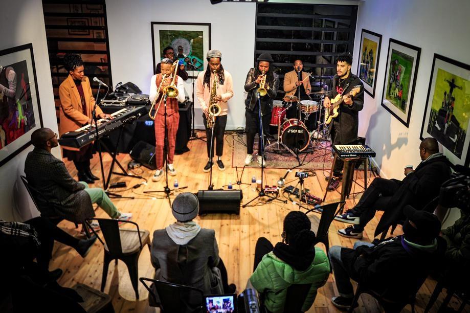 A band made up of leading jazz artists Thandi Ntuli, Benjamin Jephta, Sphelelo Mazibuko, Linda Sikhakhane, Sthembiso Bhengu, Senzo Ngcobo and DJ Kenzhero recreated the Birth of the Cool by Miles Davis. Photo: Rosetta Msimango/City Press