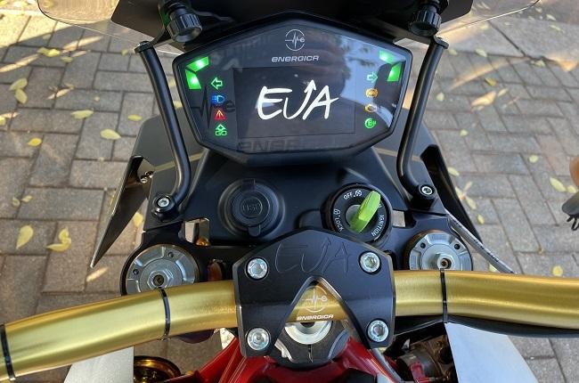 Energica Eva electric motorcycle screen