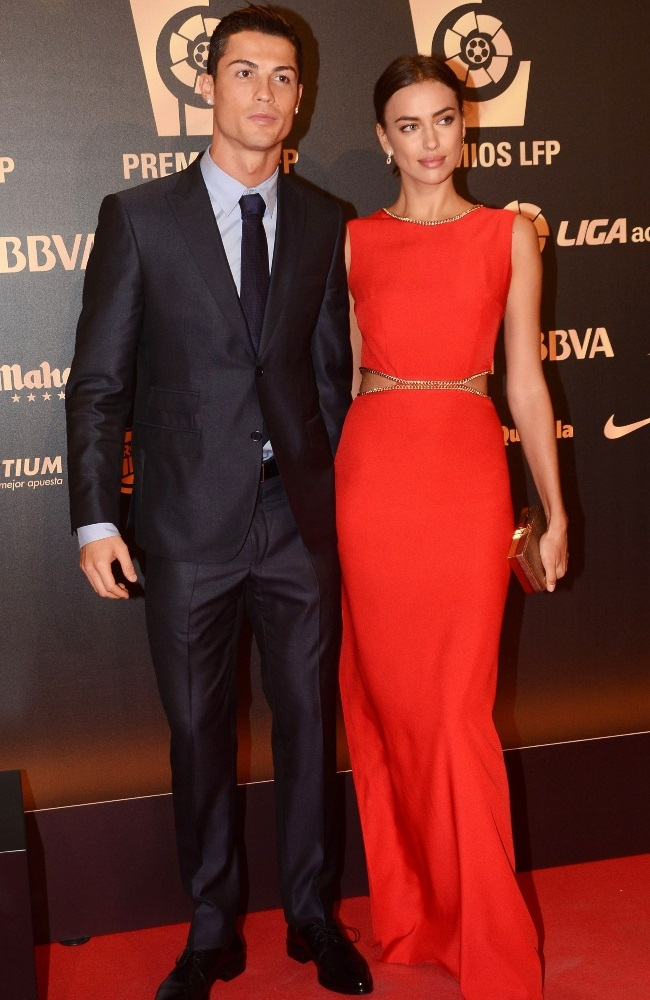Irina and Cristiano began dating in 2010, before t