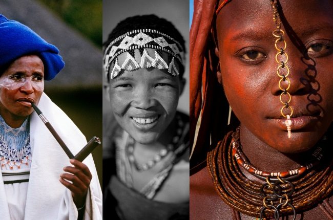 Xhosa, San, and Himba women - some of the foremothers of A-Beauty. (All images via Getty)