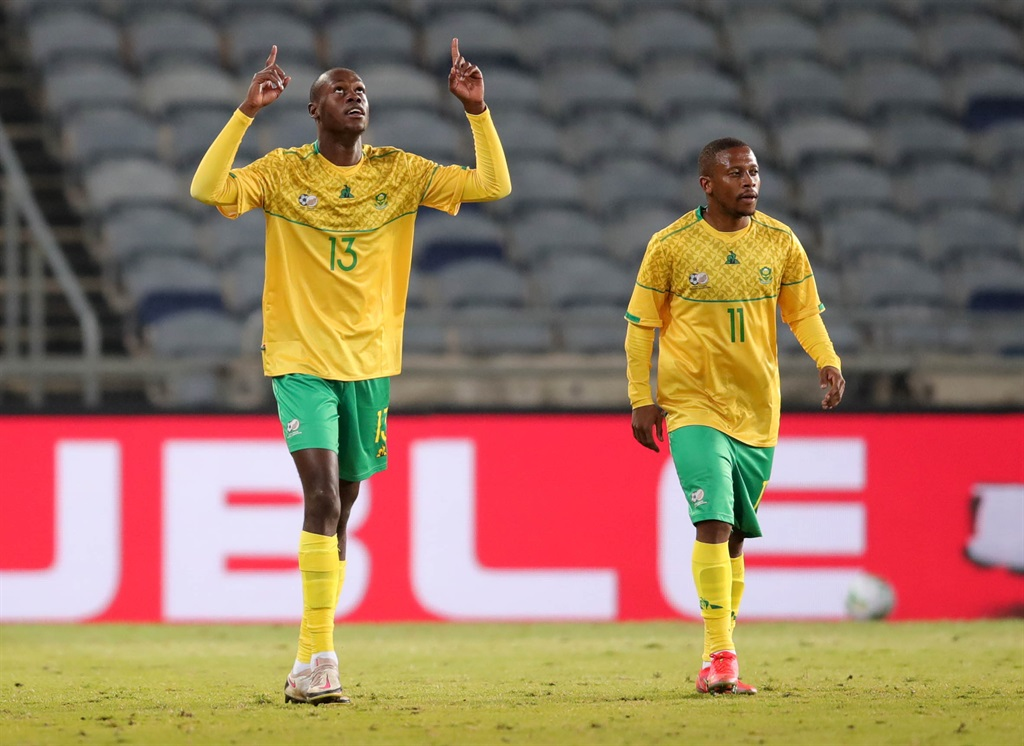Evidence Makgopa of South Africa celebrates goal d