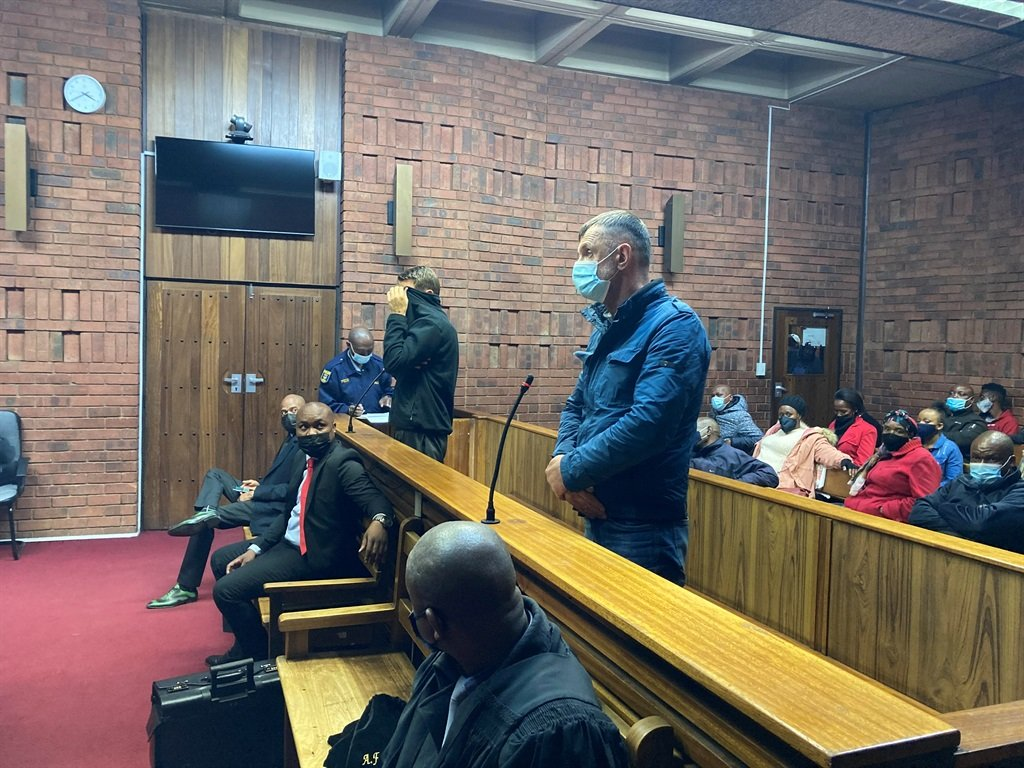 Neil Pieter Van Zyl, along with his co-accused, a Lithuanian national, Valdas Tenikaitis appear in the Pretoria Magistrate's Court on drug related charges.