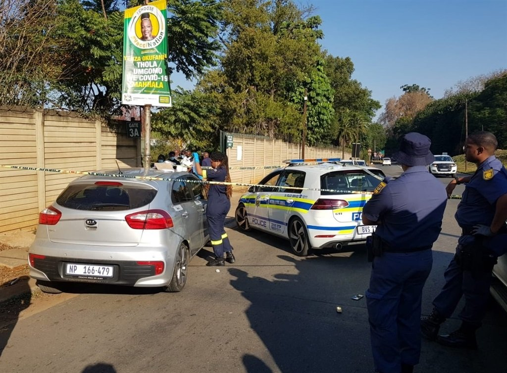 Hijackers were stopped in their tracks in Hyslop Road near the Showgrounds on Friday.