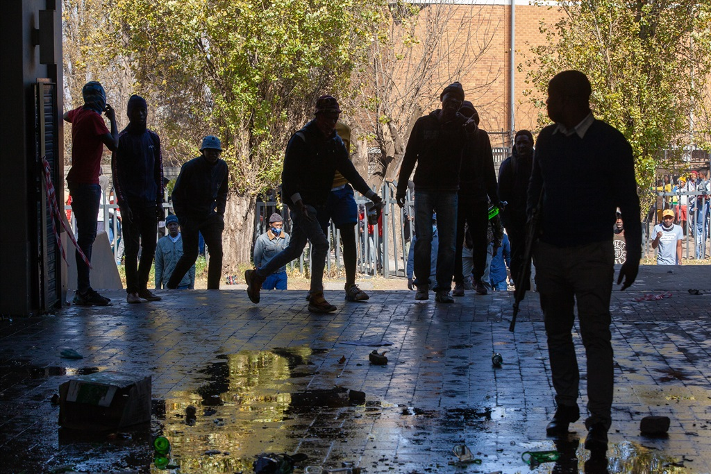 SOWETO, SOUTH AFRICA - JULY 12: Looting in Meadowl