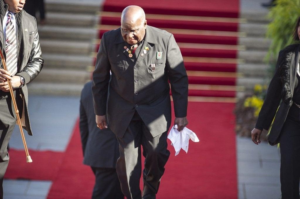 Former President of the Republic of Zambia Dr. Kenneth Kaunda. (MUJAHID SAFODIEN / POOL / AFP)