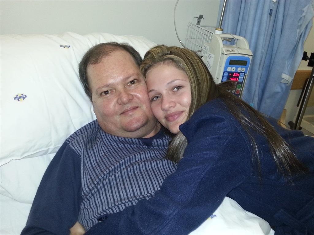 Natasha en haar pa, Willem, wat in 2013 oorlede is