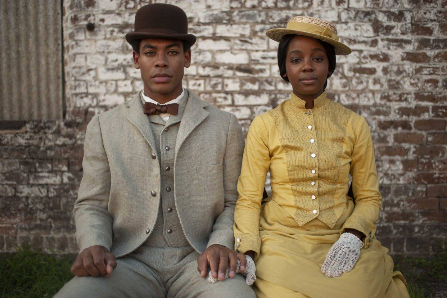Aaron Pierre as Caesar and Thuso Mbedu as Cora in a still from Barry Jenkins' adaptation of The Underground Railroad Photo: Kyle Kaplan/ Amazon Studios