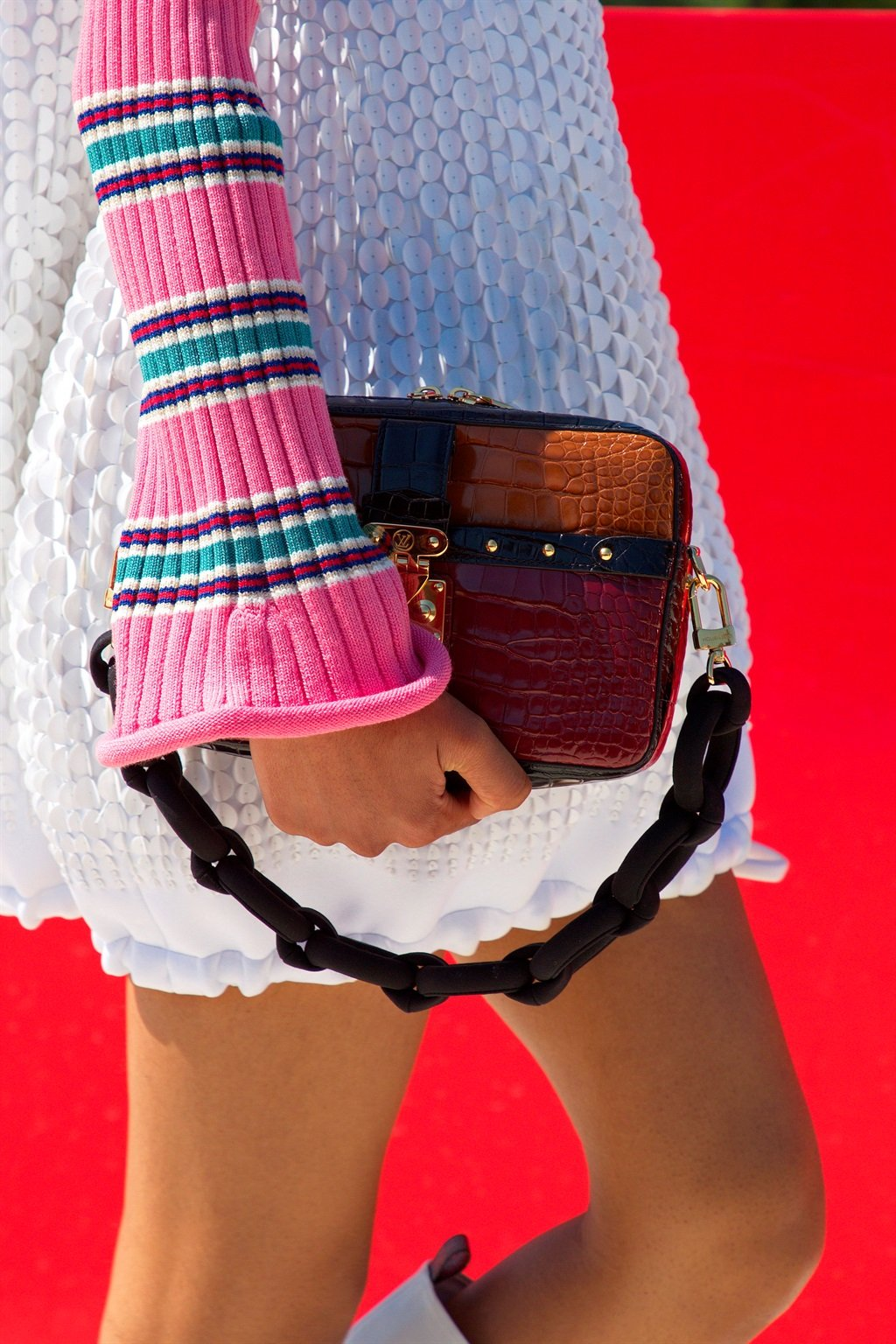 In this image posted on June 15, Bag detail from the