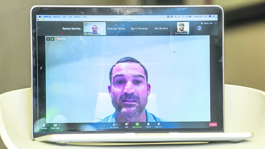 Proteas Test skipper Dean Elgar during a pre-match virtual press conference in St Lucia, West Indies, on Thursday.